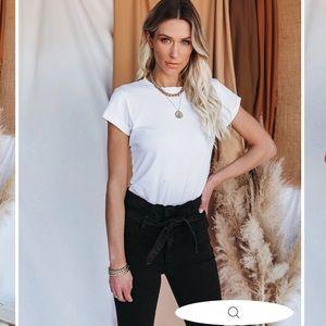 Unfazed Cotton T-Shirt Bodysuit in White